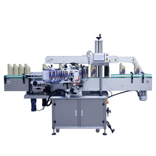 Урд болон хүзүүг хийх автомат наалдамхай шилэн лонх шошголох машин