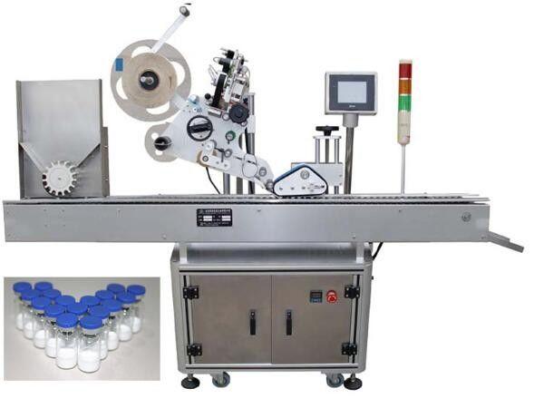Хятад улс PLC ажиллагаатай 10мл жижиг лонх шошголох машин, эм ханган нийлүүлэгчдэд зориулсан пенициллин шошго наах машин