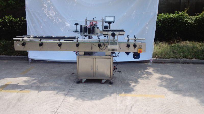 Хятад CE ханган нийлүүлэгчдэд зориулсан хуурай бус цавуу, модон хайрцаг / экспортын сав баглаа боодлын шошго хийх автомат дугуй лонх шошголох машин