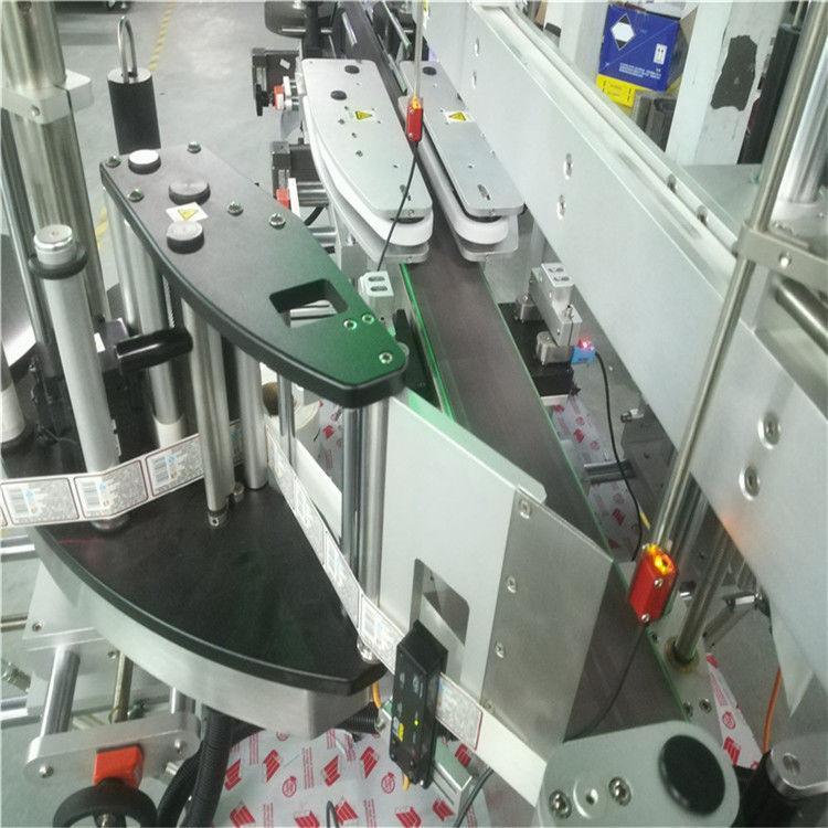 Дөрвөлжин дугуй хавтгай лонхонд зориулсан давхар хажуугийн наалт шошгоны автомат машин
