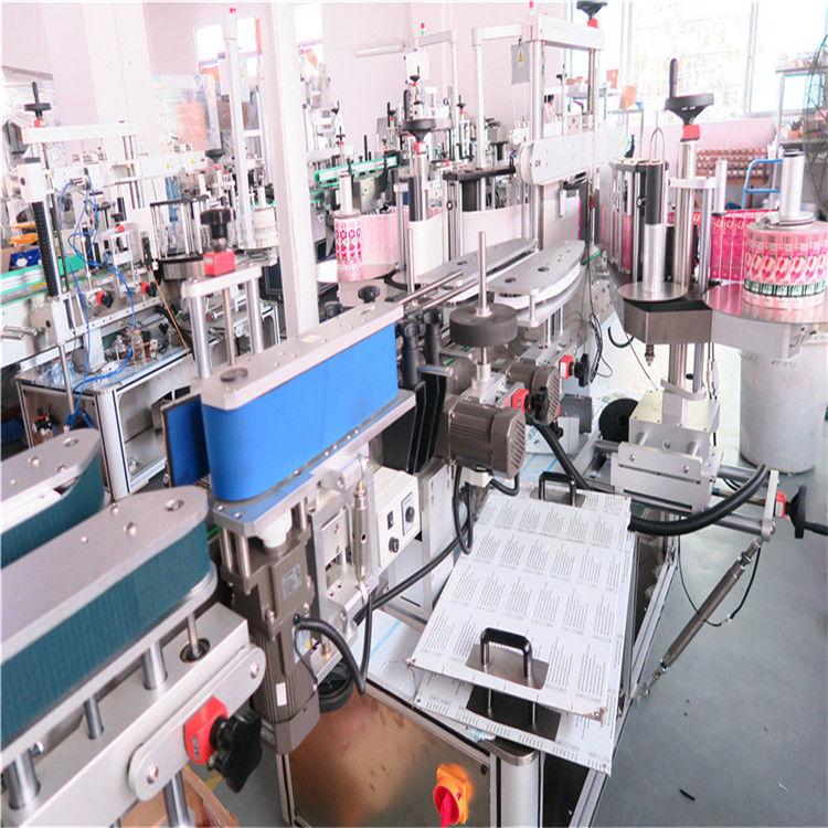 Төрөл бүрийн хавтгай дөрвөлжин лонхтой саванд зориулсан хятад лонхны хоёр талт шошгоны машин