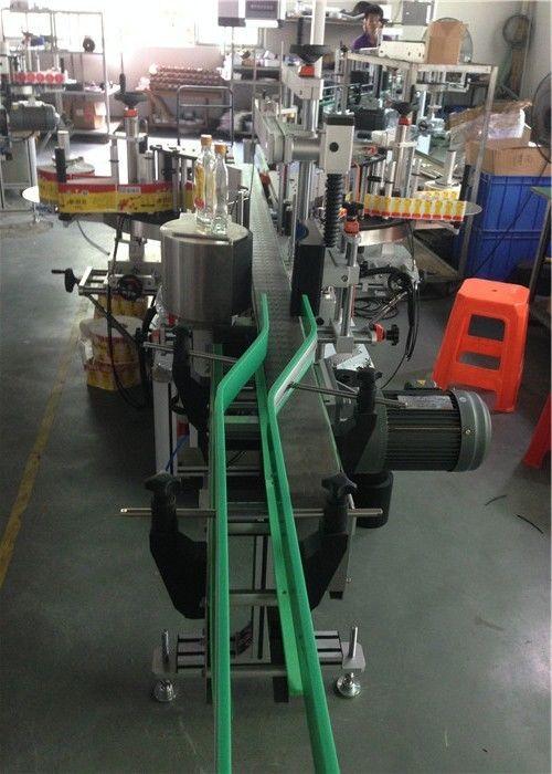 CE Sticker Label Applicator, Wine Bottle Labeling Machine Servo Motors Driving
