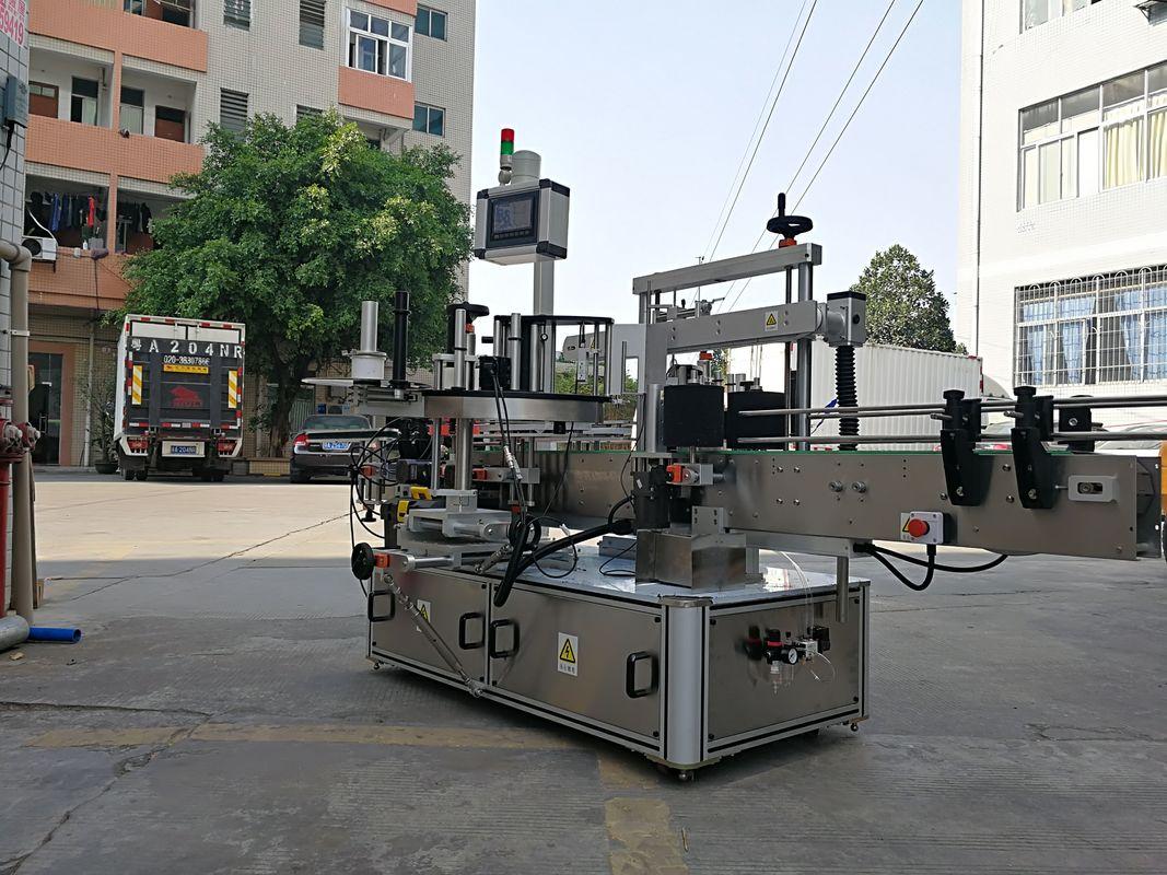 Өндөр хурдны автомат гурван талт дөрвөлжин лонхны шошго түрхэгч машин