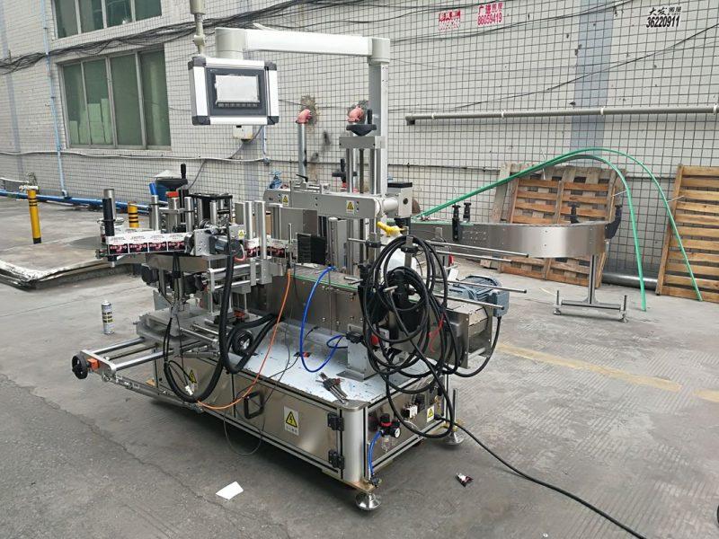 Кодер нийлүүлэгчтэй Хятад улсын бүрэн автомат наалдамхай хоёр талт лонхны шошгоны машин
