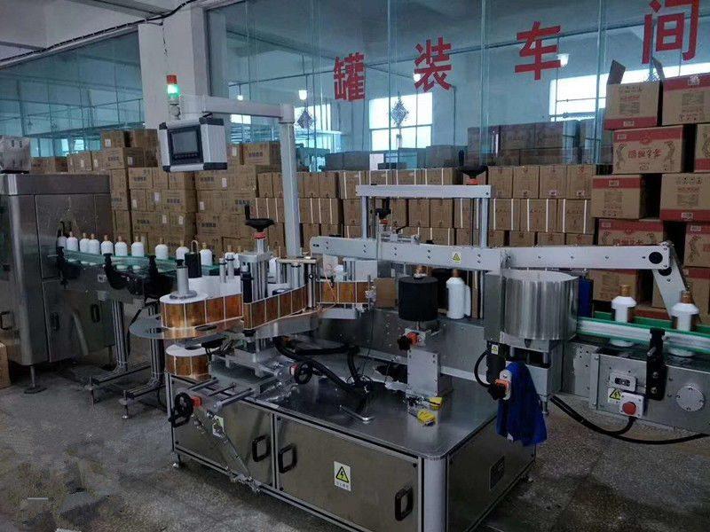Хятад Автомат наалдамхай урд / арын шилэн лонхны шошгоны машин Өндөр хурдны 5000 - 8000B / H ханган нийлүүлэгч