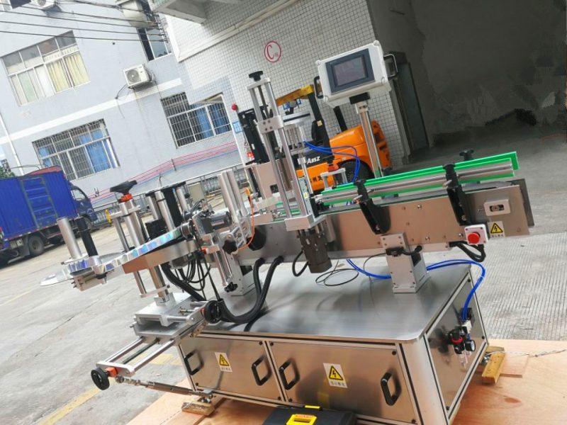 Хятад улсын даралт мэдрэмтгий дугуй лонхны наалт шошголох машин, шошго түрхэгчийн эргэн тойрон дахь босоо ороолт