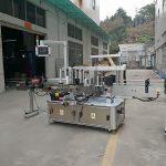 Гурван тал Автомат дөрвөлжин лонх шошголох машин Цахилгаан хөдөлгүүртэй төрөл